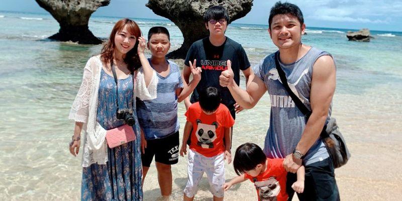 ▌ 沖繩景點美食推薦▌2019沖繩員工旅遊第二天。古宇利島,愛心石、蝦蝦飯、花人縫跟美國村美食