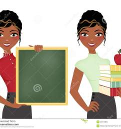 african american teacher double clip art set holding books and apple [ 1300 x 1130 Pixel ]