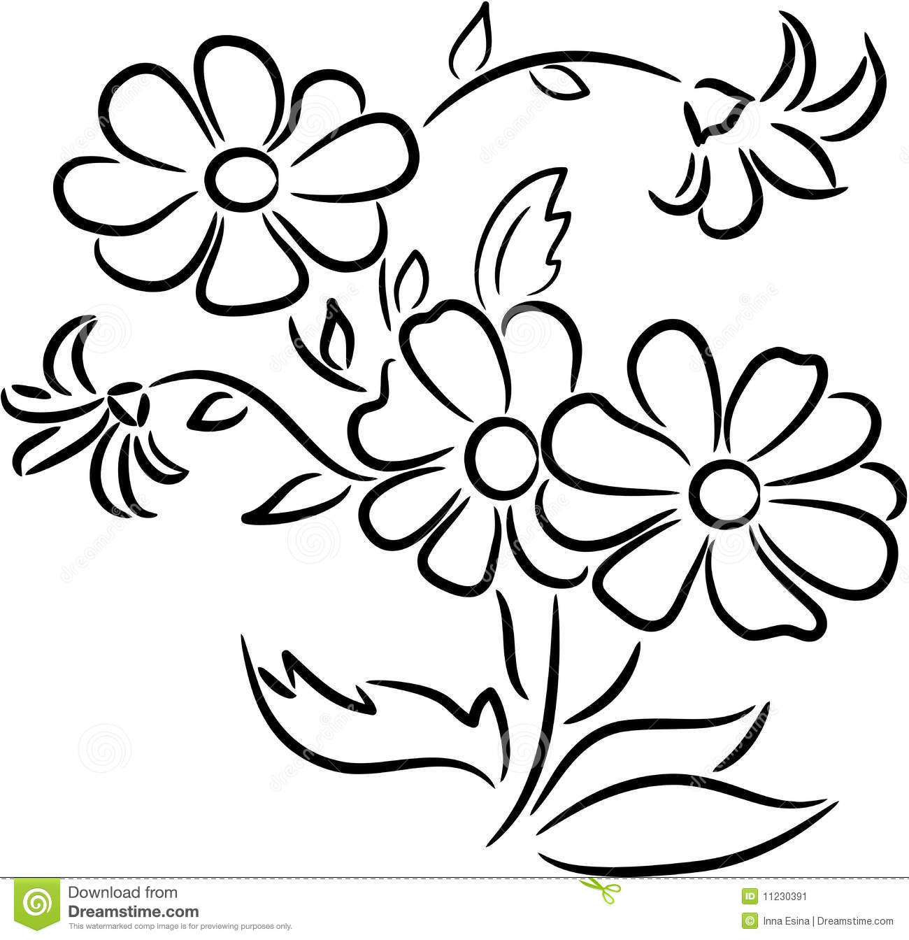 Flowers Clip Art Black And White Amp Look At Clip Art Images