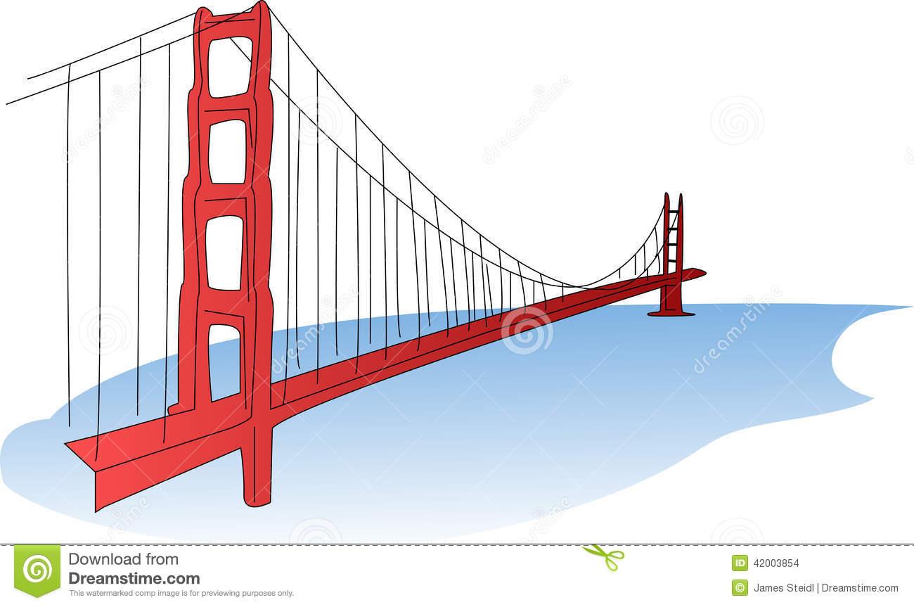 hight resolution of an illustration of the golden gate bridge a suspension bridge
