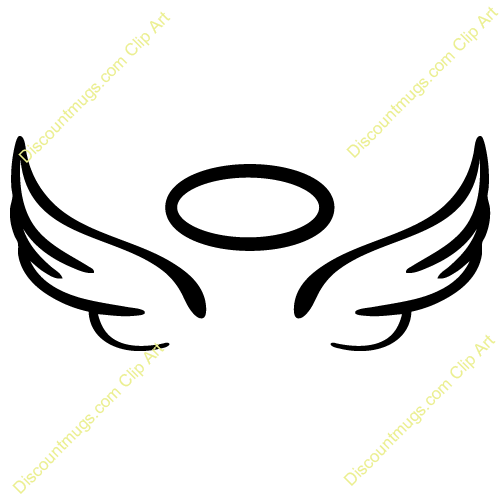 47 angel wing clipart