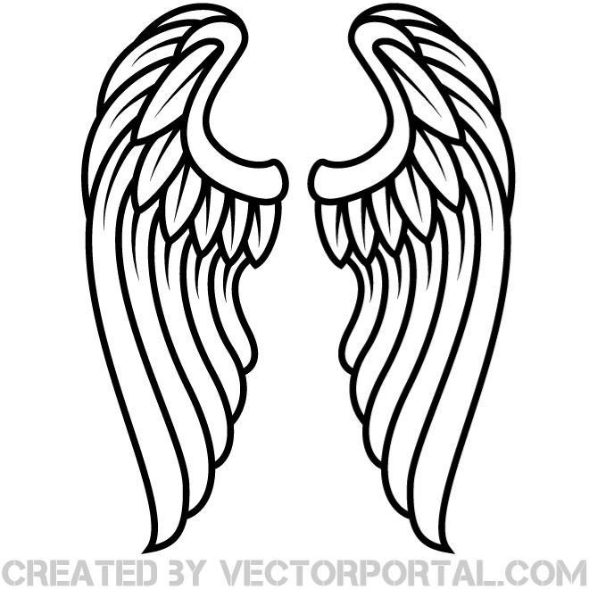 41 angel wings clipart