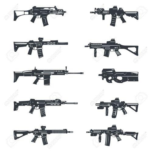 small resolution of gun clipart assault rifle assault riffle clipart