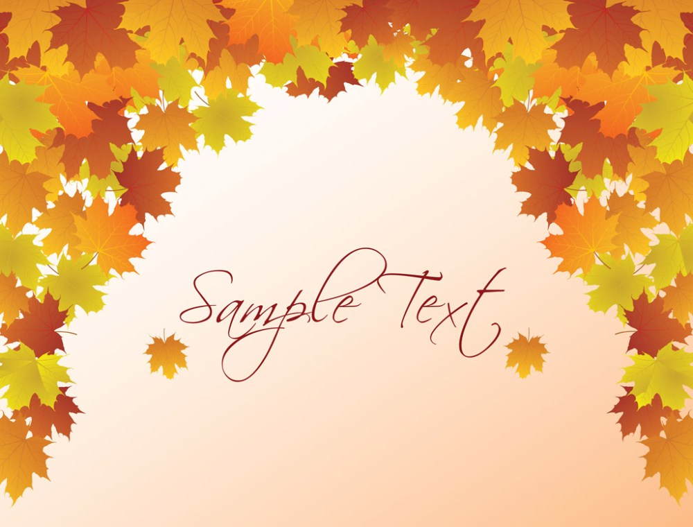medium resolution of autumn vector background fall background clipart