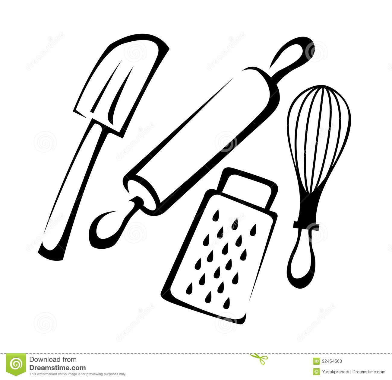 hight resolution of baking utensils stock photos image 32454563