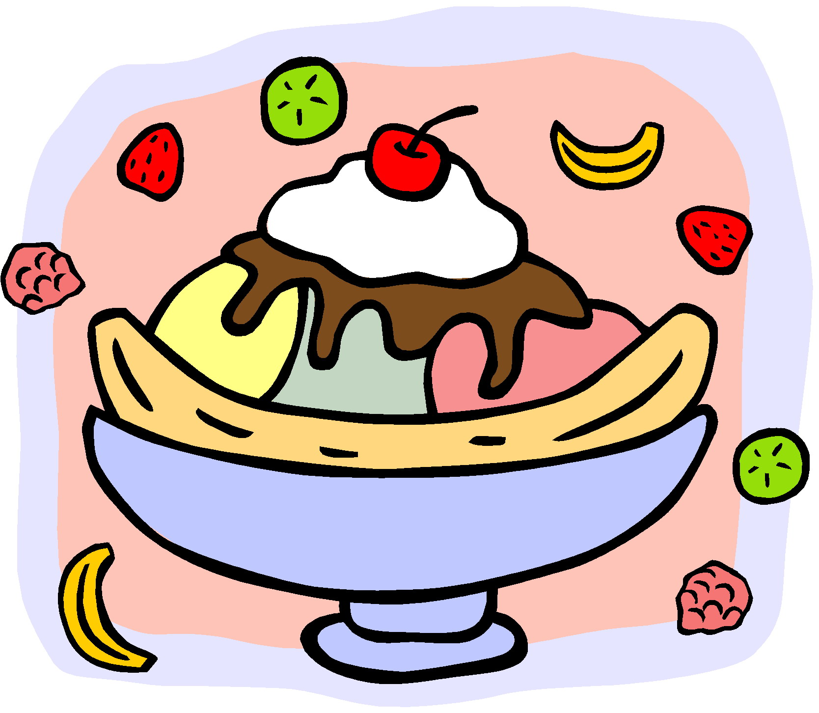 hight resolution of banana split clip art clipartall
