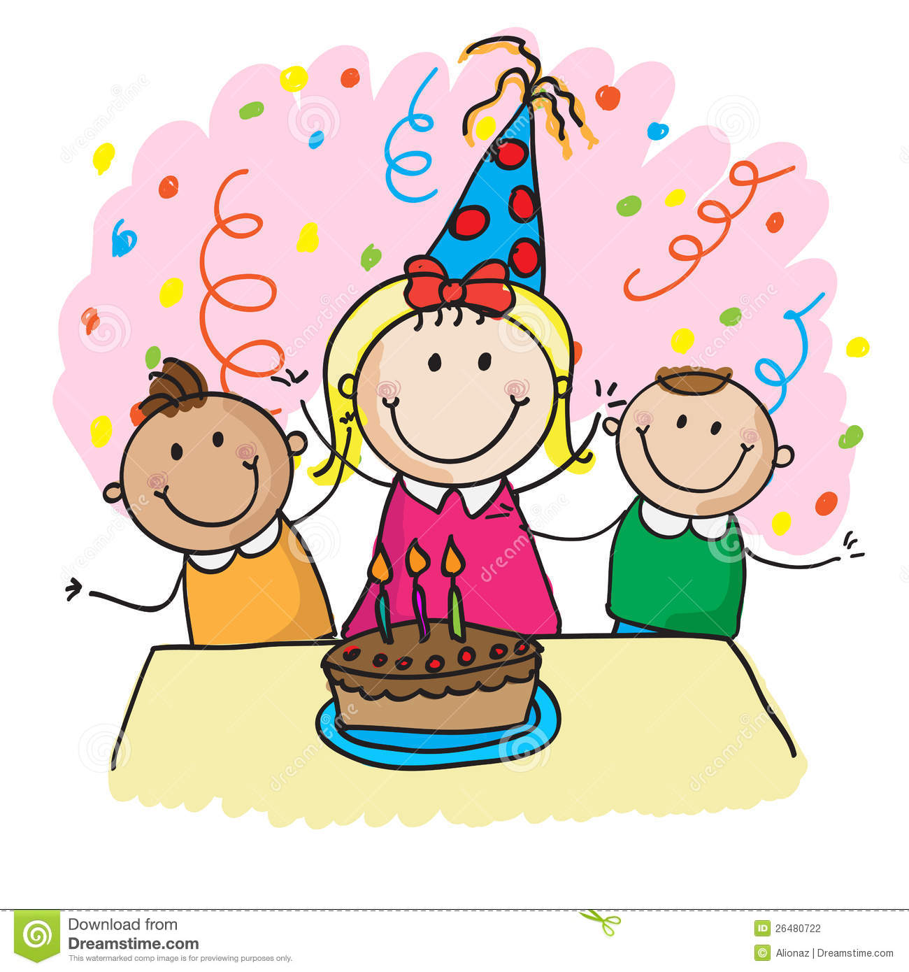 hight resolution of birthday party clipart