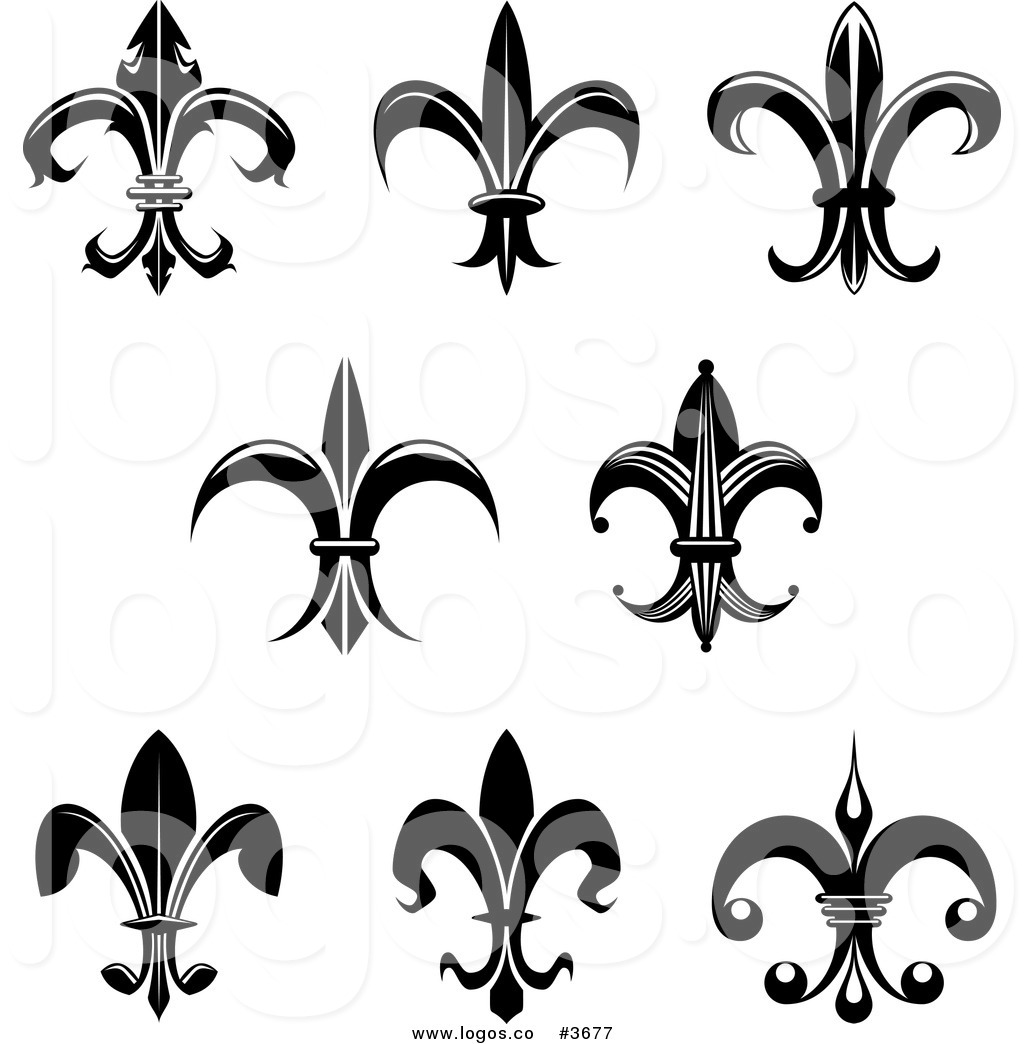 hight resolution of black and white fleur de lis free fleur de lis clip art