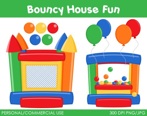 small resolution of bouncy house fun clipart digi bounce house clipart