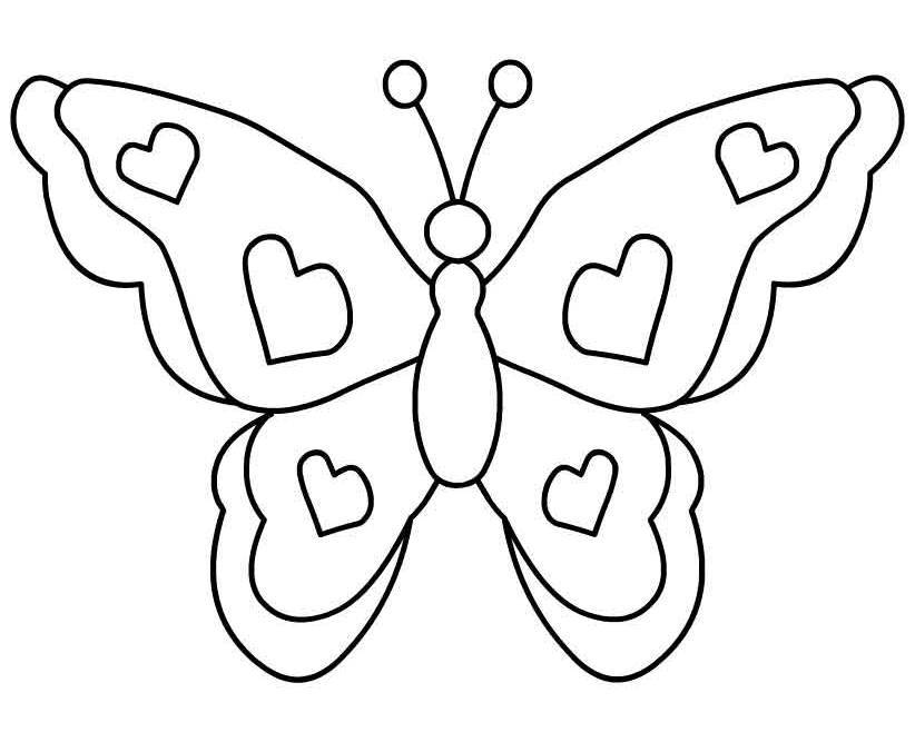84 butterfly clipart black