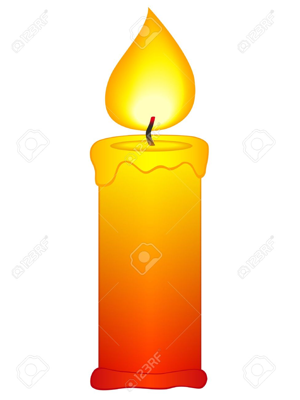 hight resolution of candle flame