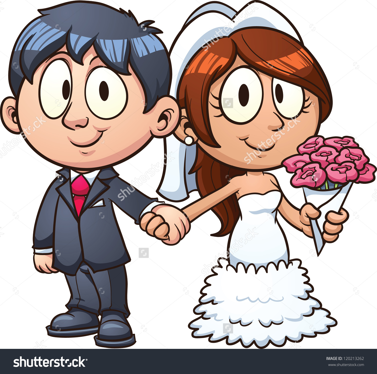 hight resolution of cartoon bride and groom vect bride and groom clipart