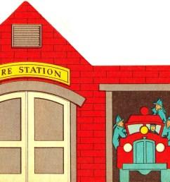 fire station clipart [ 1600 x 1162 Pixel ]