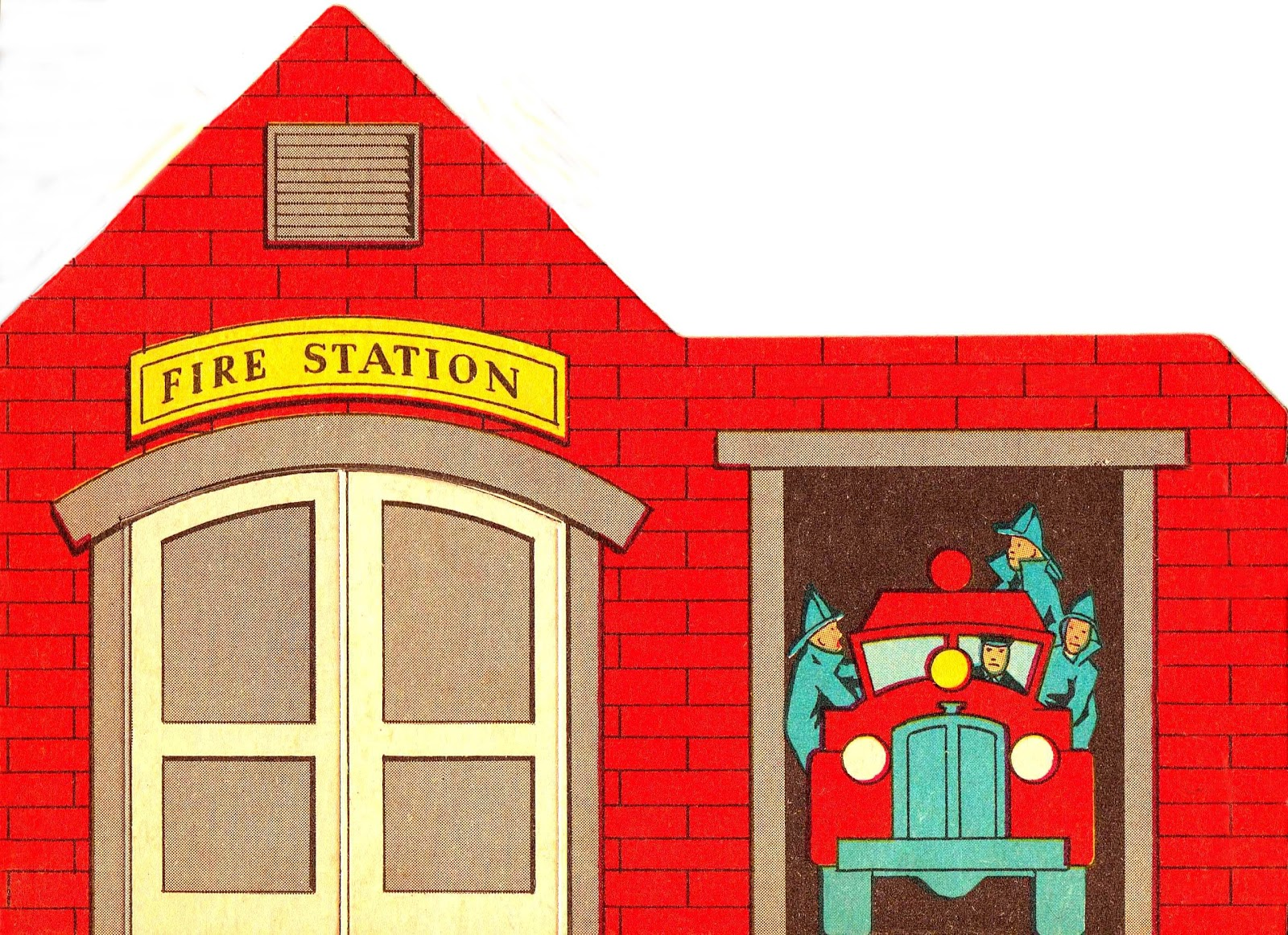 hight resolution of fire station clipart