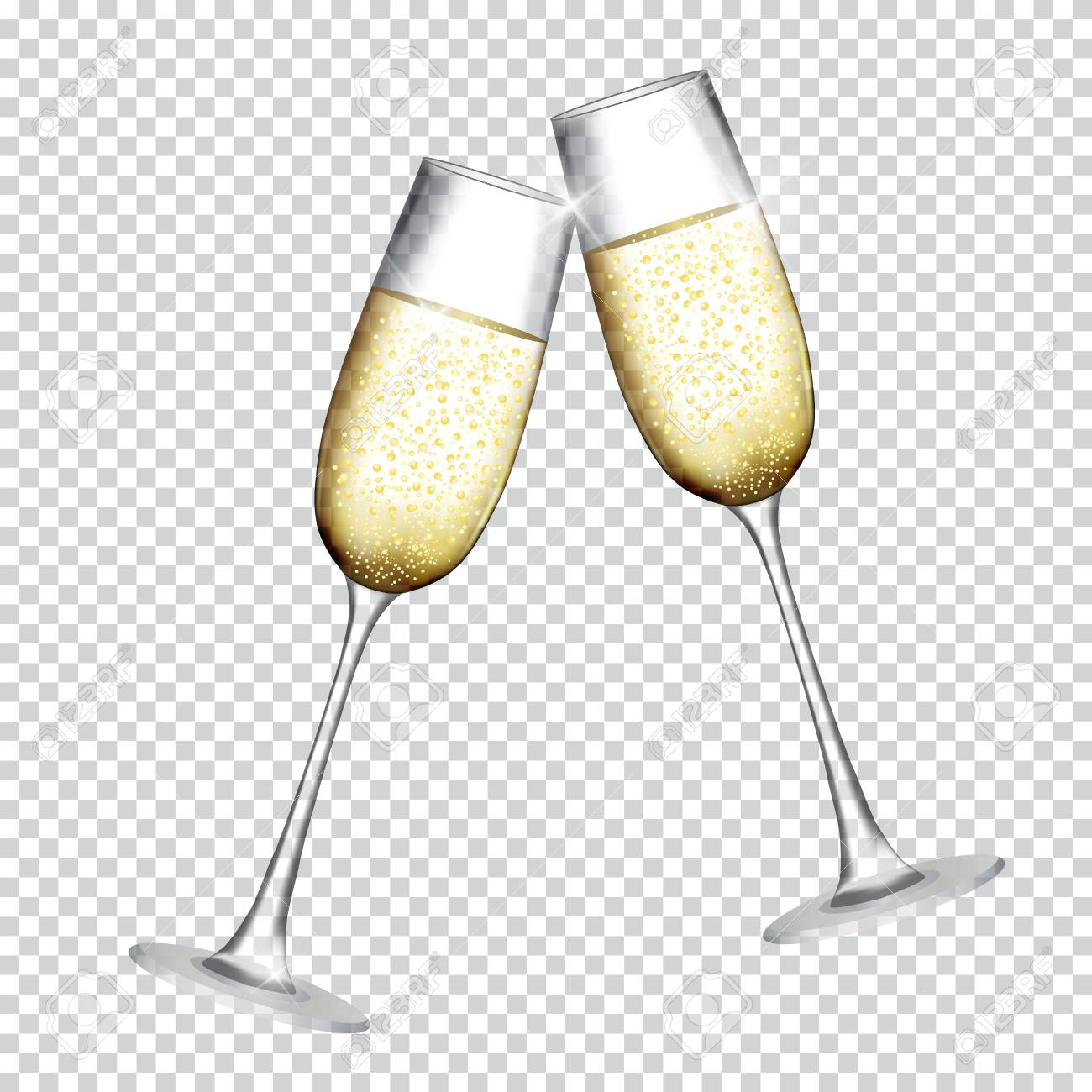 hight resolution of two glass of champagne isolat champagne clipart