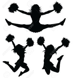 cheer jumps silhouette clipar cheerleader clip art [ 1133 x 1300 Pixel ]