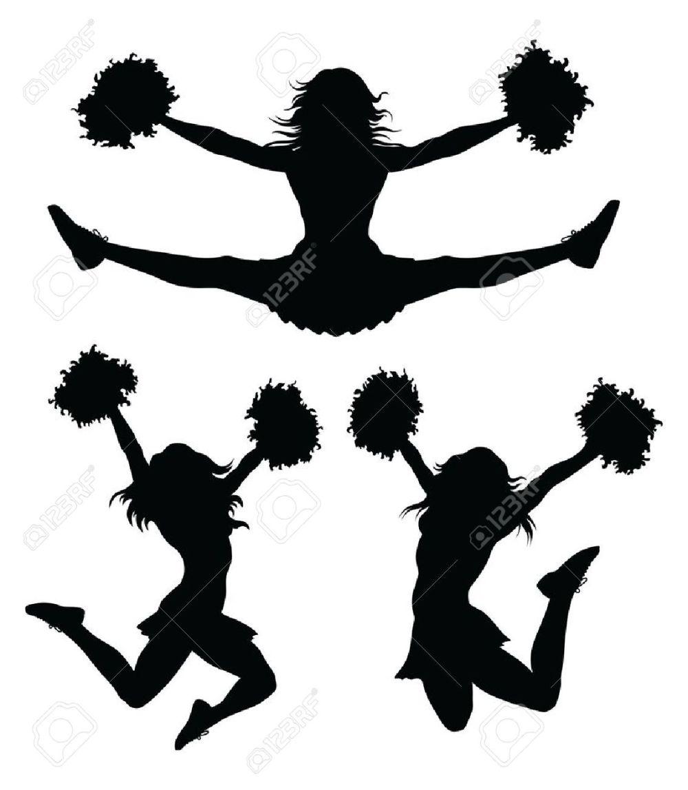 medium resolution of cheer jumps silhouette clipar cheerleader clip art