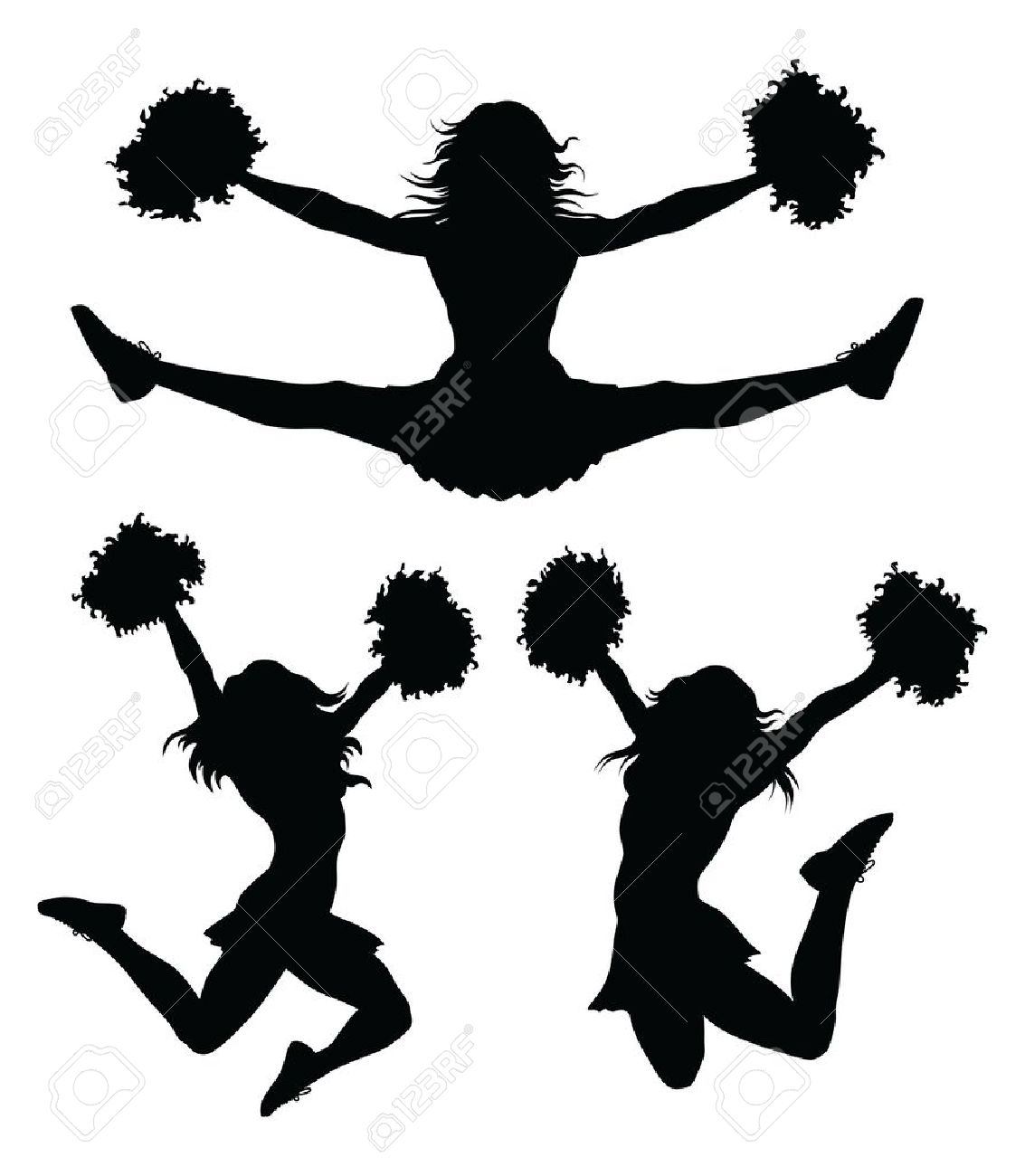 hight resolution of cheer jumps silhouette clipar cheerleader clip art