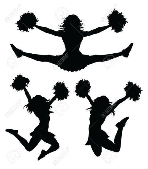 small resolution of cheer jumps silhouette clipar cheerleader clip art