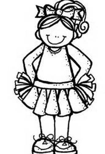 Cheerleader Clipart Black And White & Look At Clip Art