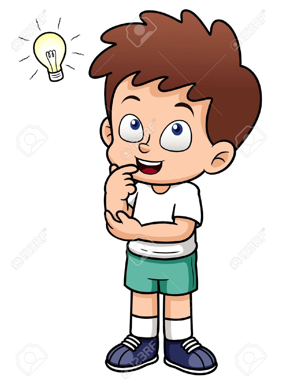 hight resolution of child thinking clipart 14285 boy thinking clipart