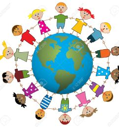 children around the world clipart world [ 1300 x 1273 Pixel ]