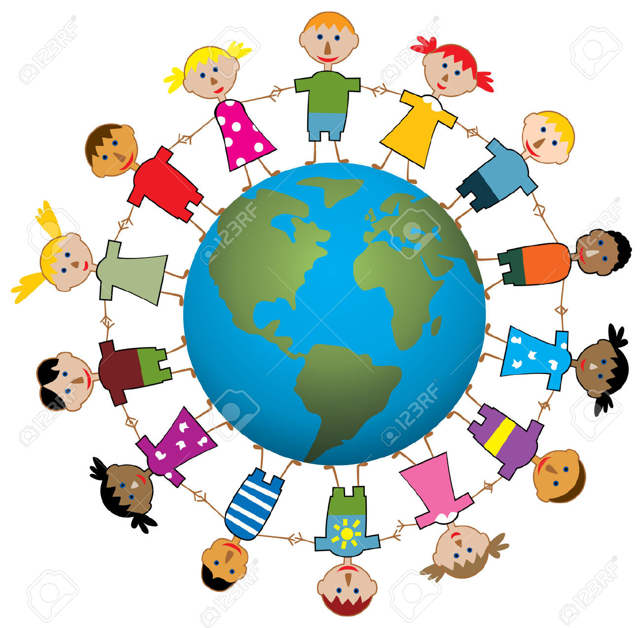 hight resolution of children around the world clipart world