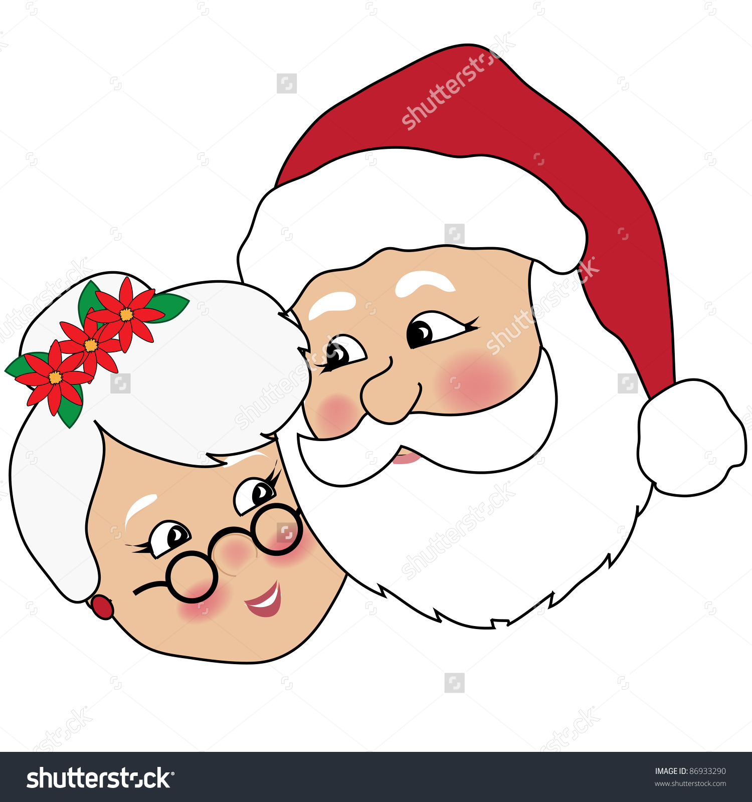 hight resolution of clip art illustration of mr and mrs claus