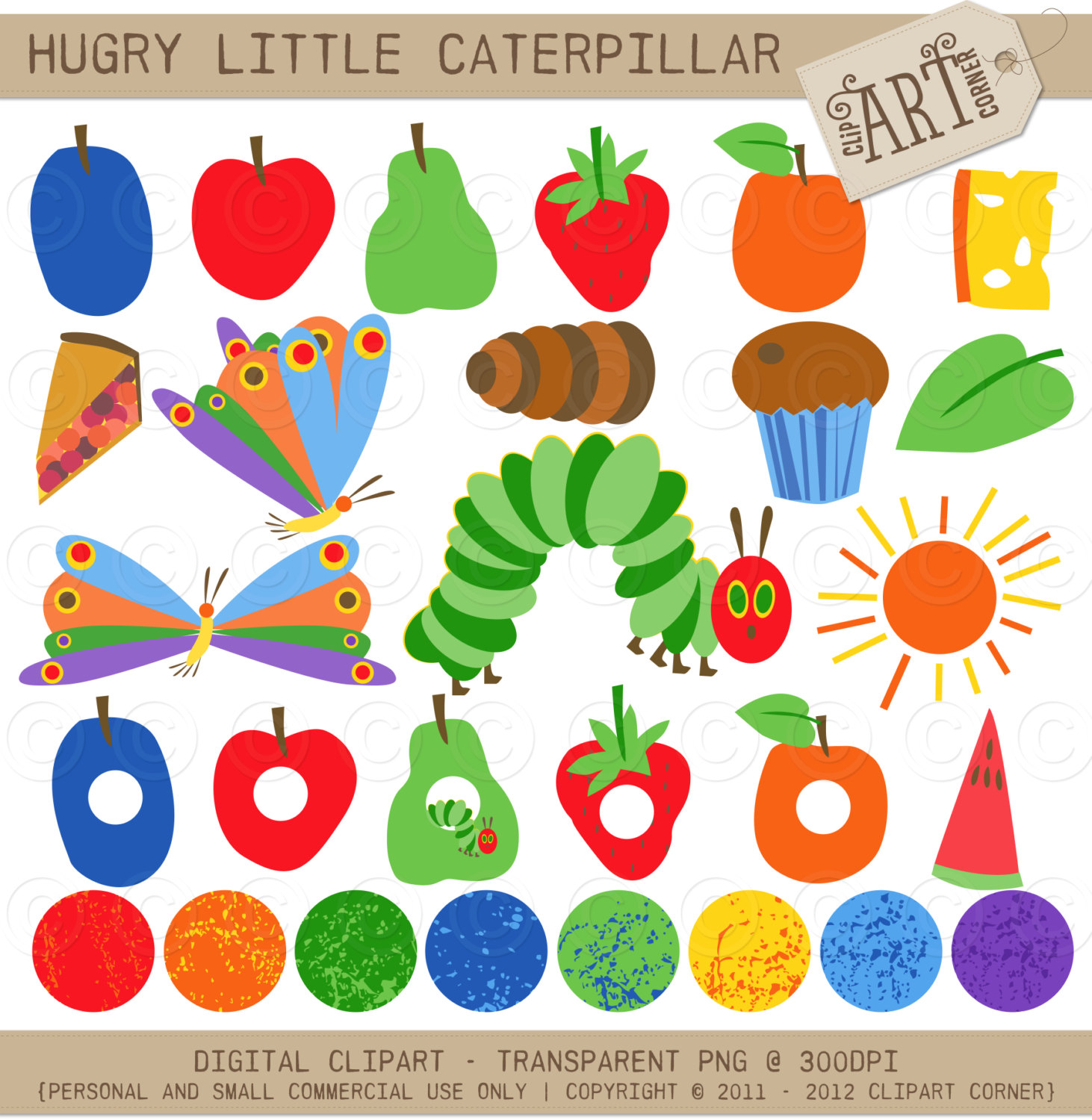 71 Very Hungry Caterpillar Clipart