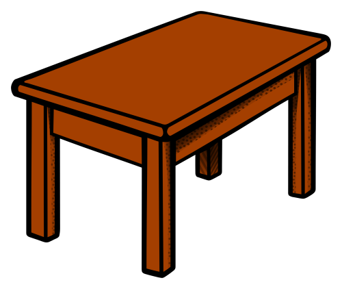 small resolution of clipart table coloured