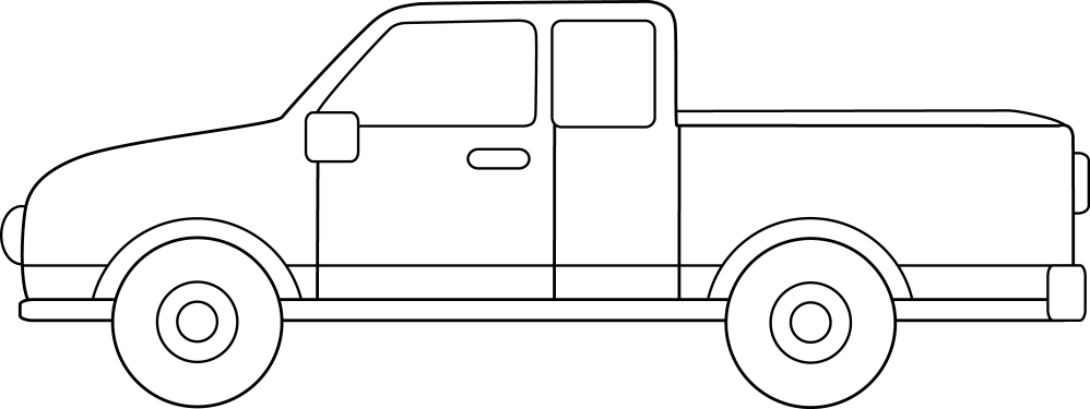 medium resolution of colorable pickup truck line pickup truck clipart