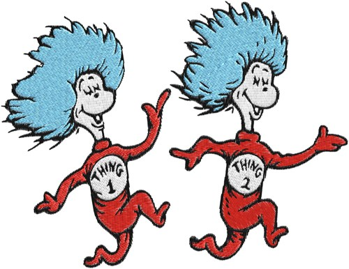 thing 1 and thing 2 coloring pages # 14