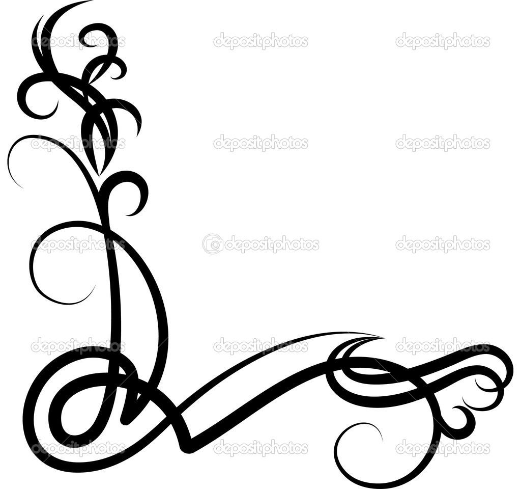 hight resolution of corner scroll vector clipart corner scroll clip art
