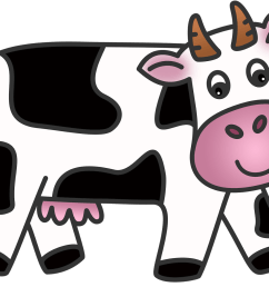 cow clip art animated cow  [ 1600 x 1131 Pixel ]