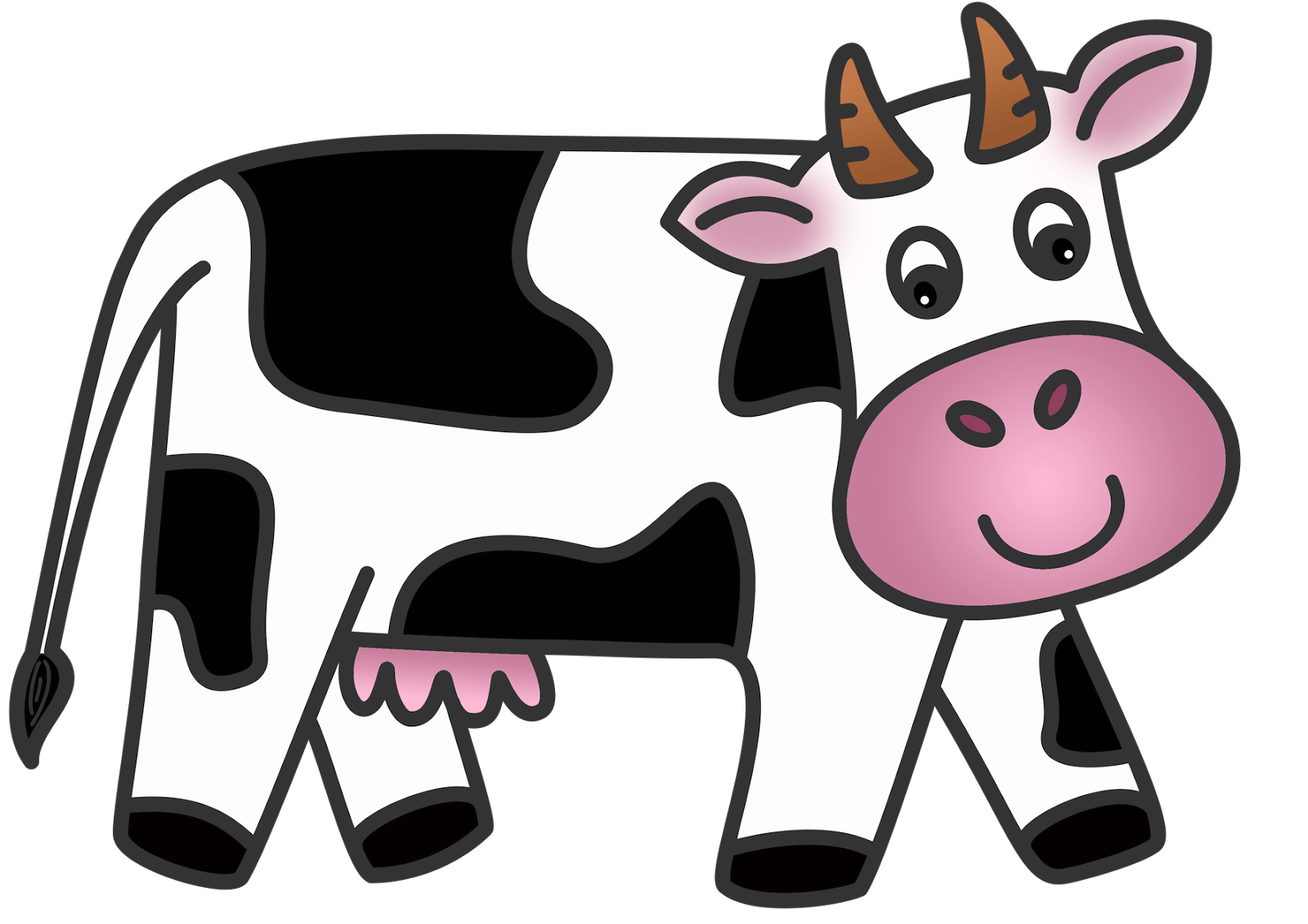 hight resolution of cow clip art animated cow
