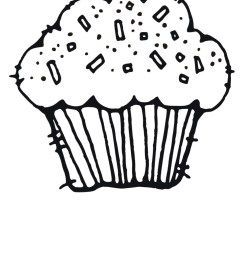cute clipart cupcakes black and white images pictures becuo [ 1275 x 1650 Pixel ]