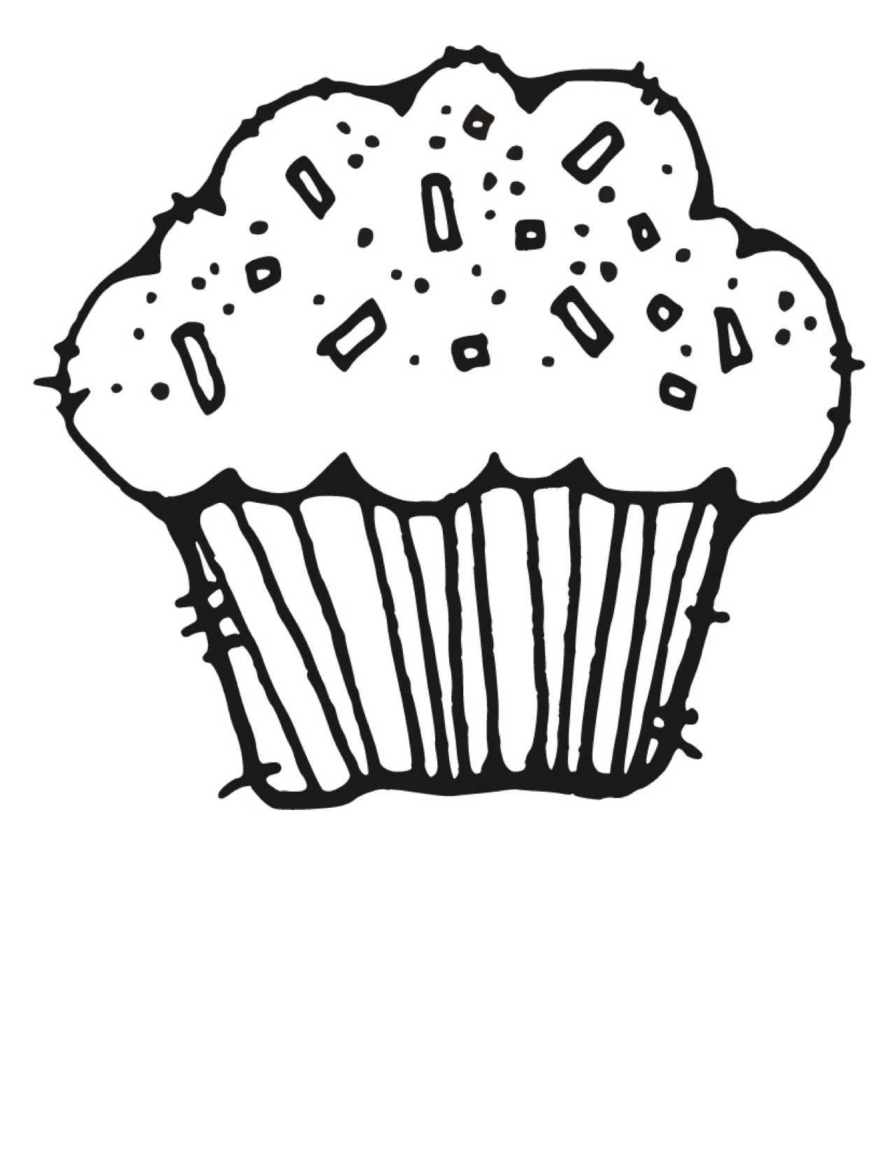 hight resolution of cute clipart cupcakes black and white images pictures becuo