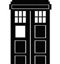 doctor who stencil silhouette outline clipart mania  [ 1067 x 1600 Pixel ]