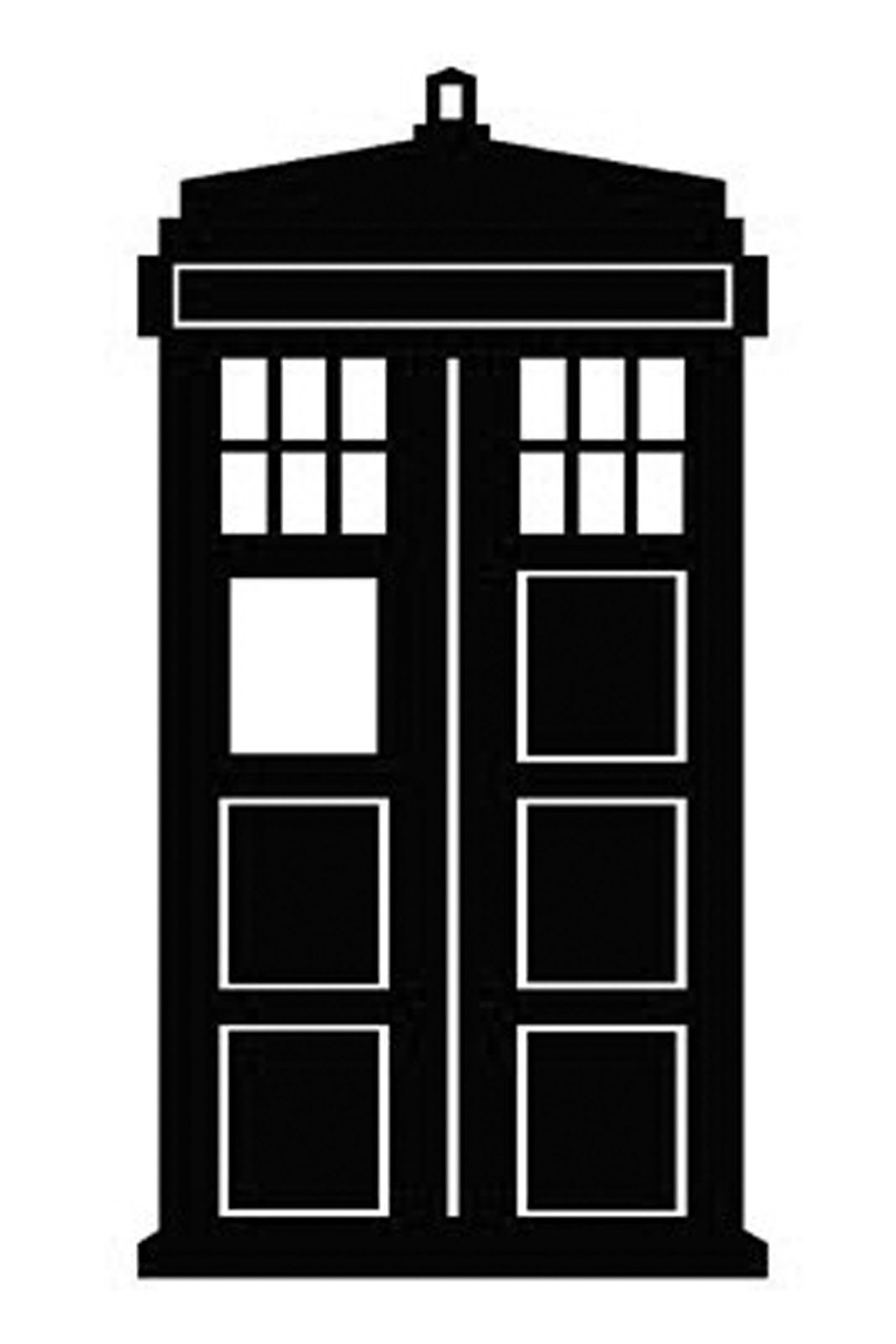 hight resolution of doctor who stencil silhouette outline clipart mania