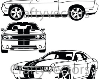 Dodge Challenger Clipart & Look At Clip Art Images