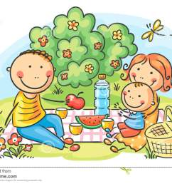 family picnic clipart [ 1300 x 967 Pixel ]