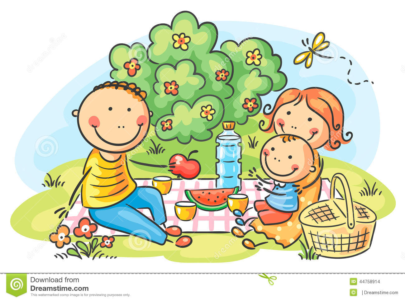 hight resolution of family picnic clipart