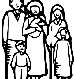 family clipart 5 people [ 936 x 1209 Pixel ]