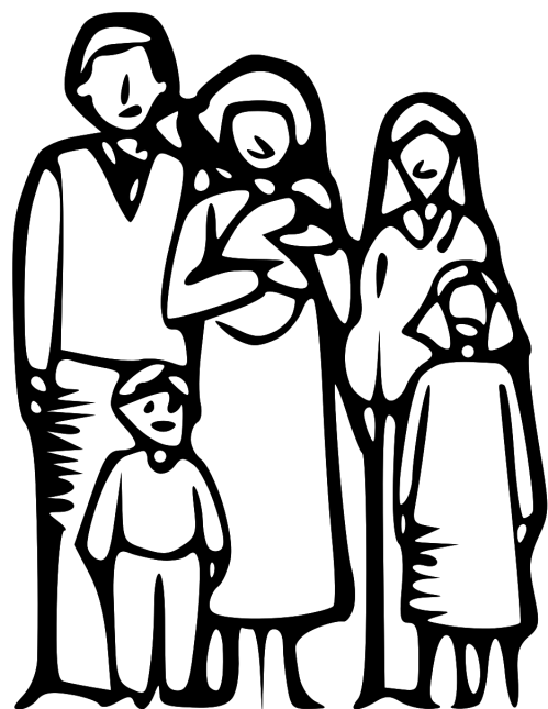 small resolution of family clipart 5 people