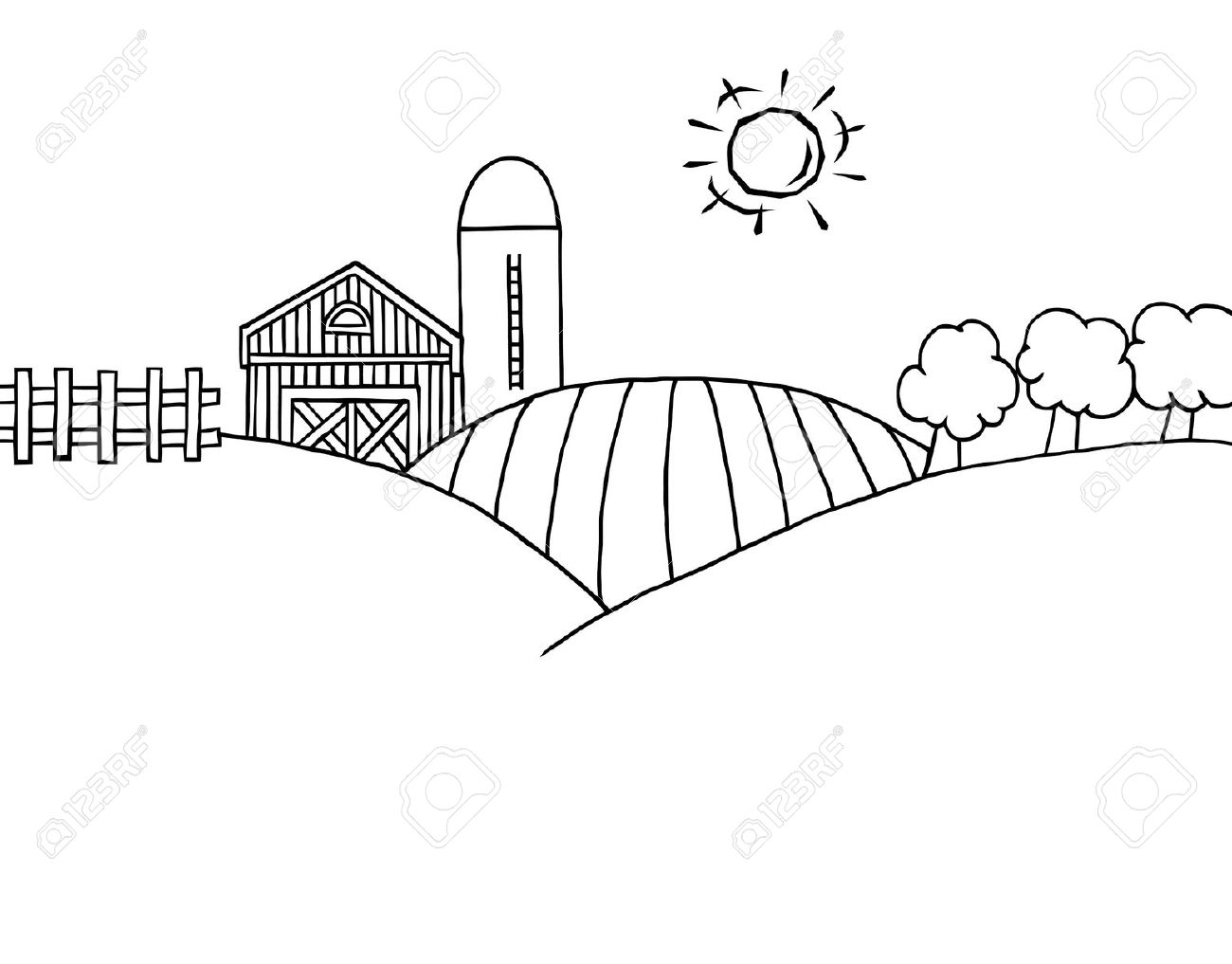 Farm Clipart Black And White Amp Look At Clip Art Images