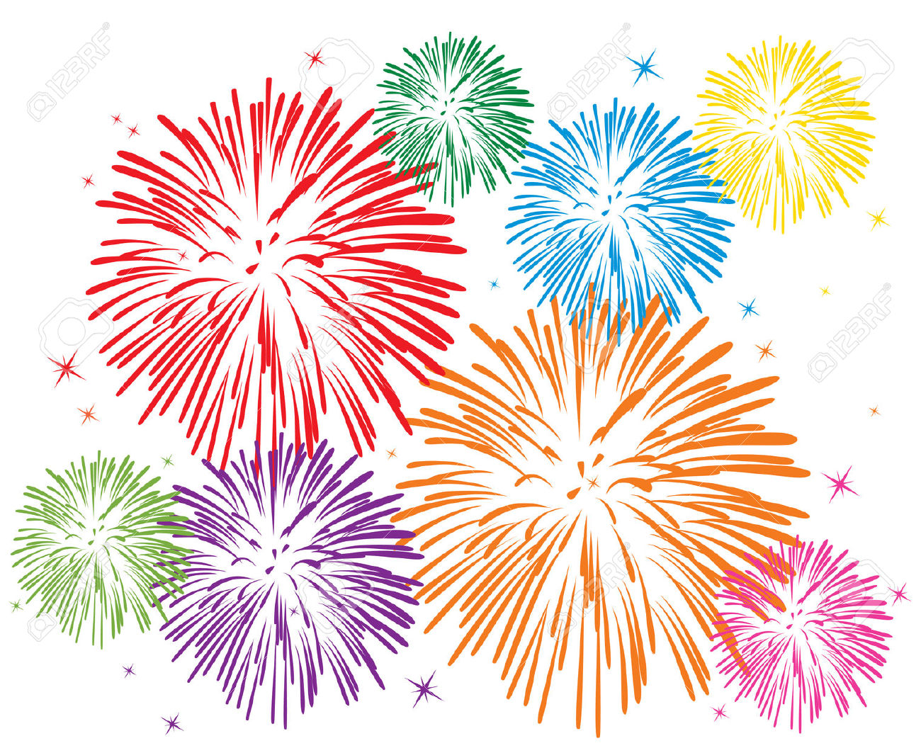 hight resolution of fireworks clipart 6726