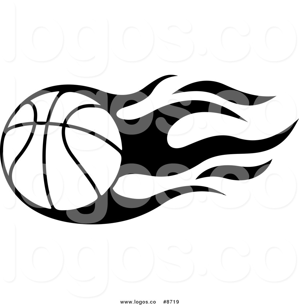 hight resolution of flaming basketball clipart illustration image