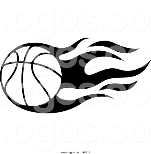 small resolution of flaming basketball clipart illustration image