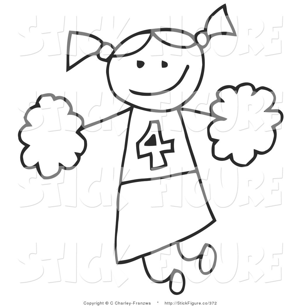 Cheerleader Clipart Black And White Amp Look At Clip Art
