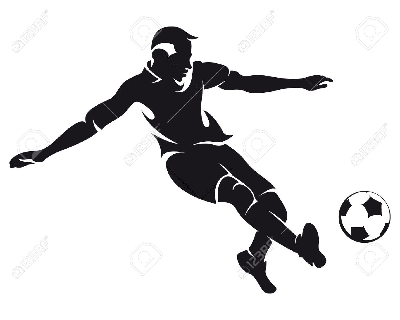 hight resolution of football players clipart